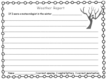 Science Journal Weather Report for Each Season