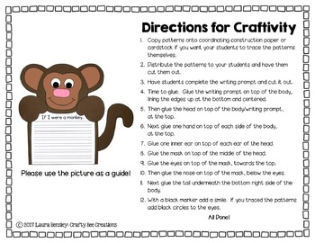 Monkey Craft {If I Were a Monkey Writing Prompt}