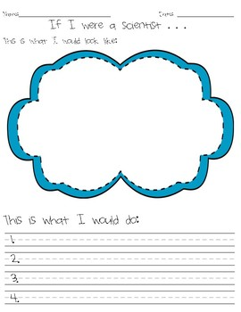If I Were a Scientist Lesson and Printable