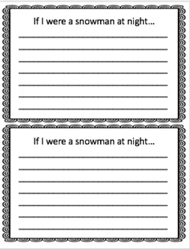 If I Were a Snowman Writing Craftivity (Can be used with Snowmen at Night)