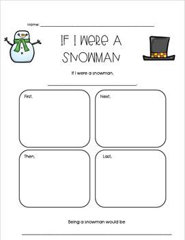 If I Were a Snowman Writing Graphic Organizer