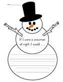 If I Were a Snowman at Night Writing