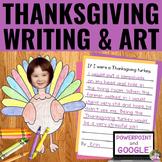 Thanksgiving Writing Activity | Thanksgiving Art