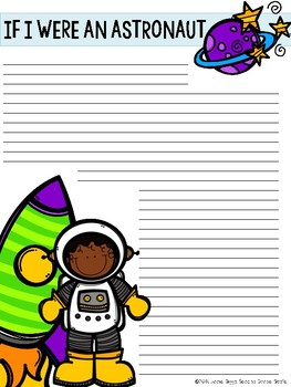 If I Were and Astronaut Writing- Google Classroom included!