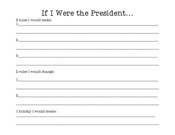 If I Were the President 3,2,1