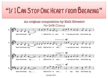 If I Can Stop One Heart from Breaking (ORIGINAL COMPOSITION)
