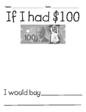 If I had $100 - 100th day activity