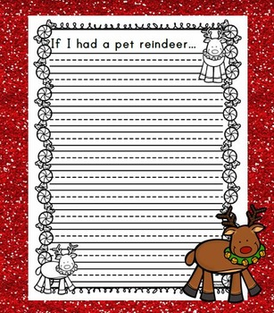 If I had a pet reindeer... / Christmas Writing Activity
