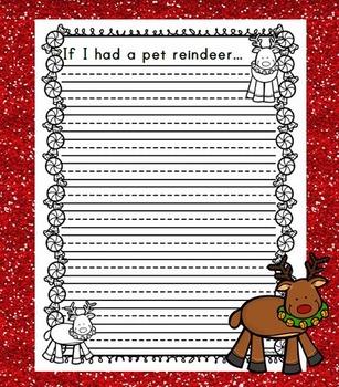If I had a pet reindeer... / Christmas Writing Activity