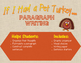 If I had a pet turkey  paragraph writing