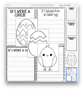 If I hatched from an Easter egg writing craftivity (PDF and EDITABLE)