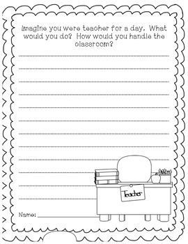 If I was Teacher...Journal Prompt