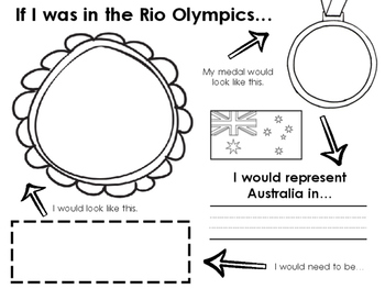 OLYMPIC GAMES- If I was in the Rio Olympics... (Grade 1- 4 Resource)