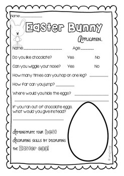 If I was the Easter Bunny Writing Craftivity