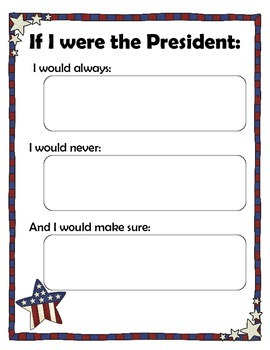 If I were President   5 Day Writing Activity (with Common Core Standard)