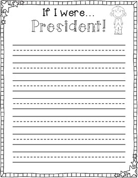 If I were President... President's Day Differentiated Writing Prompt