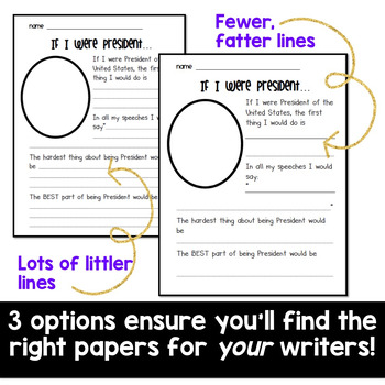President's Day Activities : If I Were President Writing Papers!