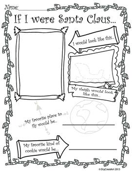 If I Were Santa Claus Worksheet Activity By Sean Antoniak