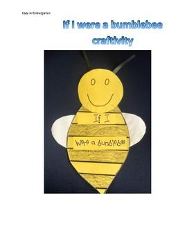 If I were a Bumblebee Craftivity