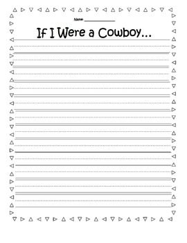 If I were a Cowboy/Girl Writing Prompt & Craft