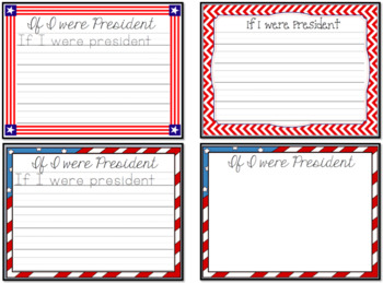If I were a President Writing Template
