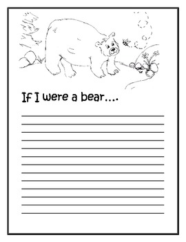 """If I were a bear"" writing prompt- FREEBIE"