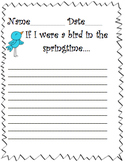 """If I were a bird in the Spring time"" Writing prompt and paper"