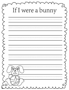 If I were a bunny writing prompt