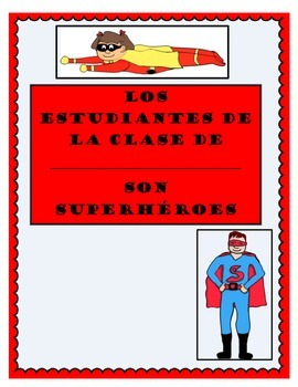 If I were a super hero class book (English and Spanish)