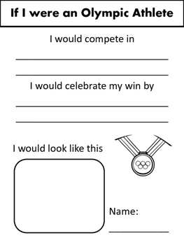 If I were an Olympic Athlete... Writing Activity