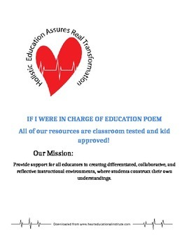 If I were in charge of education poem
