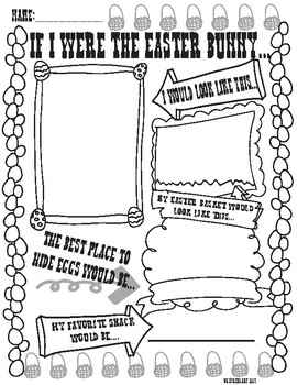 If I were the Easter Bunny fun worksheet