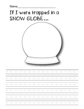 If I were trapped in a SNOW GLOBE