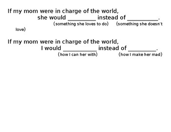 If Mom Were in Charge of the World Organizer