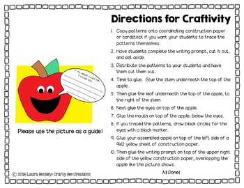 If My Apple Could Talk Craftivity