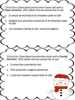 If My Snowman Came To Life....Writing Prompt