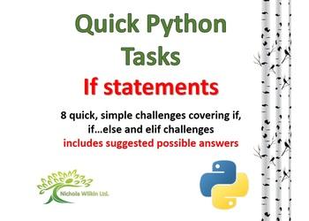 If Statements (Quick Python Programming Challenges)