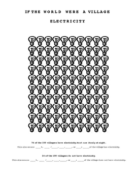 If The World Were a Village Student Workbook Printable