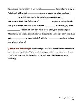 If-Then Sentences: More Subjunctive Practice