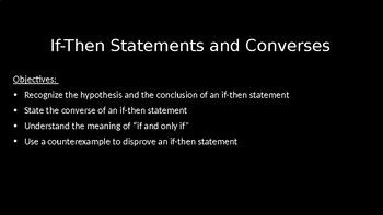 If-Then Statements - PowerPoint Lesson (2.1)