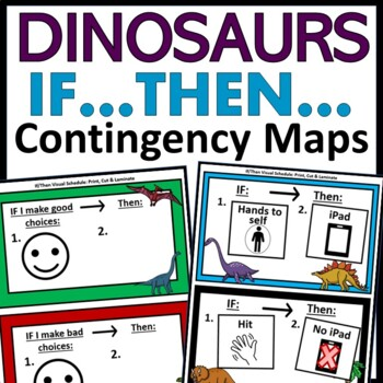 If Then Visual Schedules for Autism: Dinosaurs