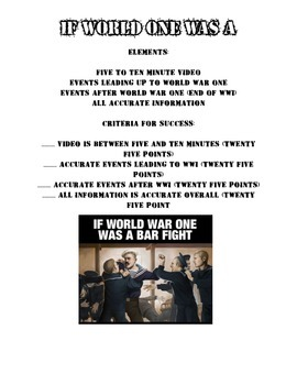 If World War One Was A...