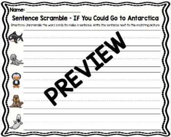 If You Could Go to Antarctica Sentence Scramble