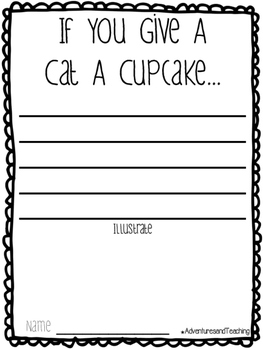 If You Give A Cat A Cupcake Craftivity