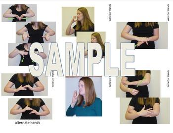 If You Give A Cat A Cupcake Sign Language (ASL) Vocabulary Cards