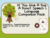 Book Companion for If You Give A Dog A Donut