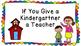 If You Give A Kindergartner A Teacher Book