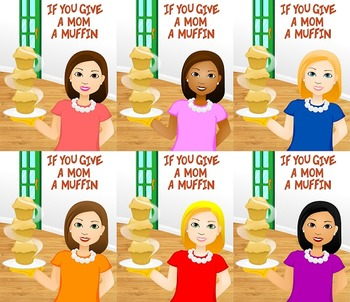 Mother's Day clip art- If You Give A Mom A Muffin