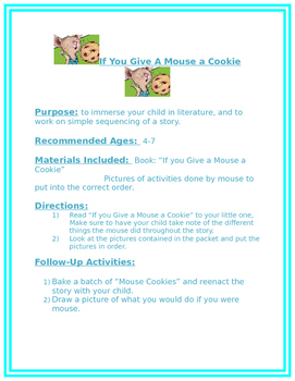If You Give A Mouse A Cookie Family Packet