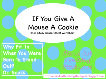 If You Give A Mouse A Cookie Freebie